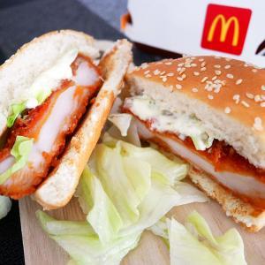 マクドナルド50周年記念バーガー!ジューシーチキン赤とうがらし&テキサスバーガーに食らいつく!