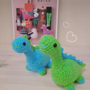 恐竜の編みぐるみを編みました!