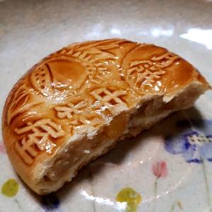 満月前だけど中村屋の栗月餅を食べた