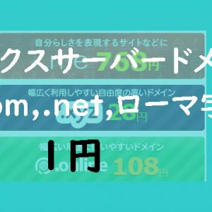 人気のドメイン.com,.net,(ローマ字).jpがエックスサーバー