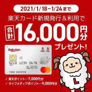 期間限定で新規カード発行9,000円