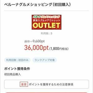 ポイントアップでお買い物したのが562円もお小遣いになった