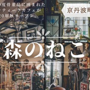 【アンティークカフェ 森のねこ】《京丹波町》2020年秋、新オープン!360度見渡す限り宝の山のような骨董品が並ぶ様子は圧巻!