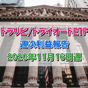 トラリピ、トライオートETFの利益は+312,338円【2020年11月16日週】