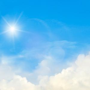 太陽の位置と影
