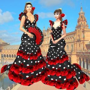 ドレスをもらって踊ろう♪フラメンコ