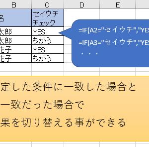 IF関数 – 条件に合う時、合わない時の結果を指定する
