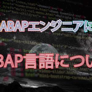 現役ABAPエンジニアが教える!! ABAPについて①