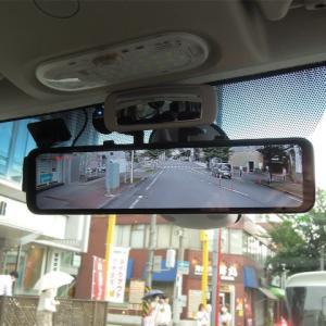 カングーにリアのドライブレコーダー兼デジタルインナーミラーを取り付け