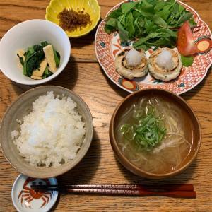 蓮根団子と茗荷の味噌汁