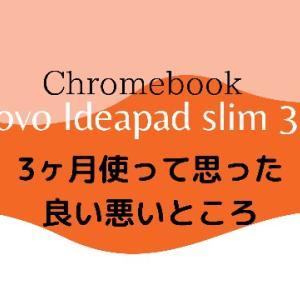 【ブロガーにおすすめ】コスパ最高IdeaPad Slim 350i Chromebookを3ヶ月使ってみた感想   Gibberish Man blog