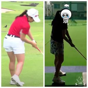 【記録】ゴルフスイング 西村優菜プロのように下半身を使いたい!