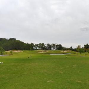 【ホームコースでゴルフ】5月研修会のスコア記録 リスクヘッジと学習不足のもったいないOBだけどスコアはギリギリの・・・