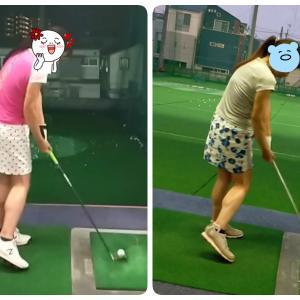 【ゴルフ練習記録】目指せ西村優菜プロのスイング 下半身の回転と右肘をチェック