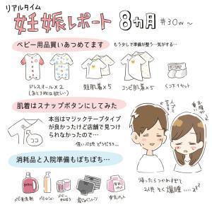 妊娠レポ 8ヶ月(30w〜)