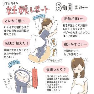 妊娠レポ 8ヶ月(31w〜)