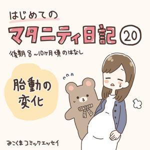 【マタ日記20】胎動の変化