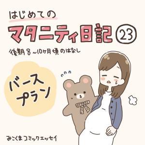 【マタ日記23】バースプラン