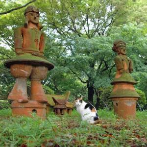 三毛猫さくらと埴輪 Clay Figures