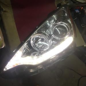 アクア ヘッドライトLED加工