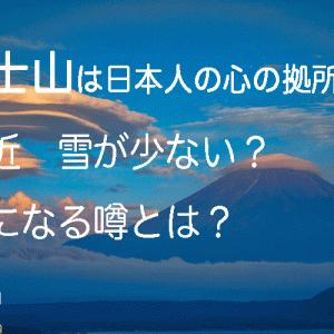日本の象徴 富士山のデータと、最近気になる噂