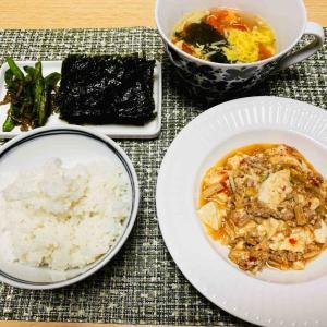 今日の献立(麻婆豆腐定食)