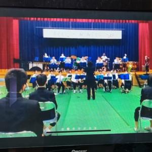 zoom配信で中学校文化祭を鑑賞