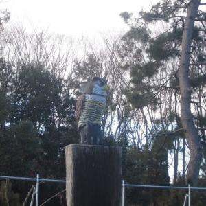 名城公園・オブジェに見えた生き物