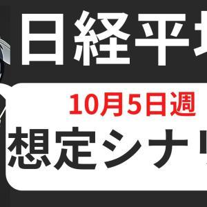 #株式 #投資 【株式投資】日経平均、10月5日週のシナリオ想定