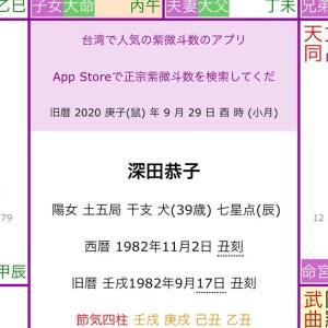 「紫微斗数」鑑定事例 深田恭子