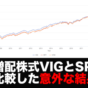 VIG(米国増配株式)とSPY(S&P500)を比較、意外な結果とは!?