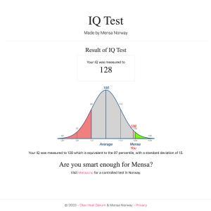 【自閉症】IQテストを受けてみました。