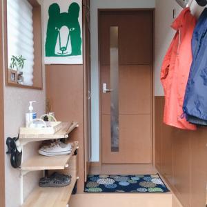 建売住宅の玄関#before➡after#北欧カラーにした壁