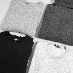 2年間orワンシーズン着用した【ユニクロ】カシミヤセーター&【無印良品】ヤクウールセーター