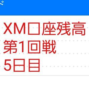 5日目 XM口座残高116,765円 ハイレバFXトレードXM口座残高報告 (第1回戦)
