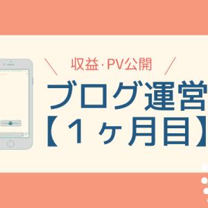 【ブログ運営1ヶ月目】収益・PV・活動報告【初月で収益化成功】