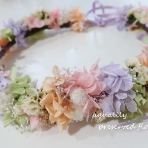 結婚式に向けて花冠を手作りされました˖✻*˸ꕤ*˸*⋆。