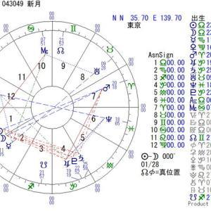 ■新月図:10月17日04:30:49(東京)