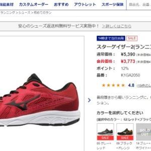 ミズノのスターゲイザー2(靴)を購入しました。