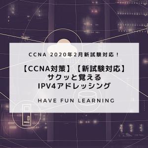 【CCNA対策】【新試験対応】サクッと覚えるIPv4アドレッシング