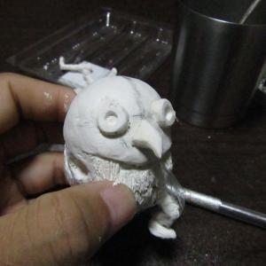 【粘土細工】 キングダムの河了貂(かりょうてん) 作業7回目
