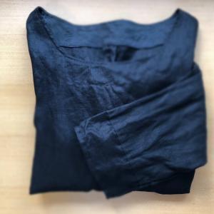 【黒リネン】ハンドメイドカンパニーの型紙で地味服~♪