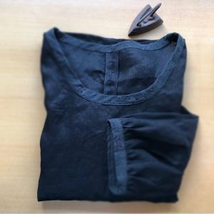 【夏服】ハンドメイドカンパニーの型紙~黒リネンでシンプルチュニック♪