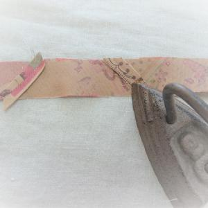 【部分縫い】長いバイヤステープを作る~ややこしいけど簡単