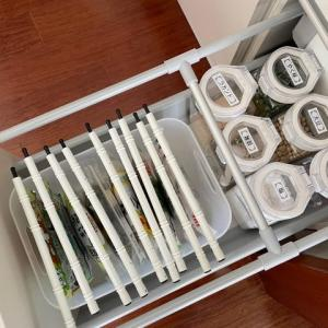 【実例】キッチン三段引き出し~小さいキッチングッズや調味料の収納