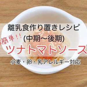 離乳食作り置きレシピ(中期〜後期)【超簡単ツナトマトソース】