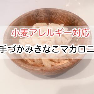 米粉パスタアレンジレシピ【手づかみきなこマカロニ】