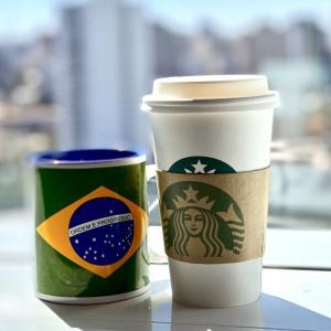 地球(日本)🌎の真裏:コロナ禍のブラジルで、漸く、『スターバックス』が再開☕️