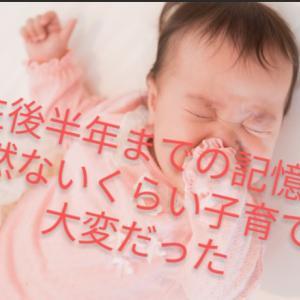 出産から生後半年まで、記憶が全然ないくらい子育ては大変だった