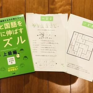 兄弟で取り組んでいる『算数と国語を同時に伸ばすパズル』